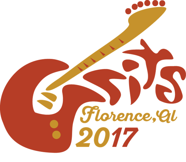 Picture of GRITS 2017 Annual Meeting logo - red and gold guitar incorporating GRITS text.